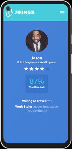 JOINER Services engineering contractors app