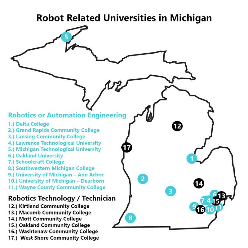 robot engineering schools in Michigan