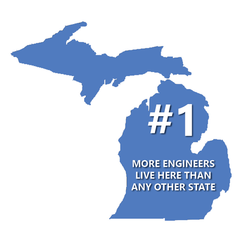 Michigan has more engineers than any other state